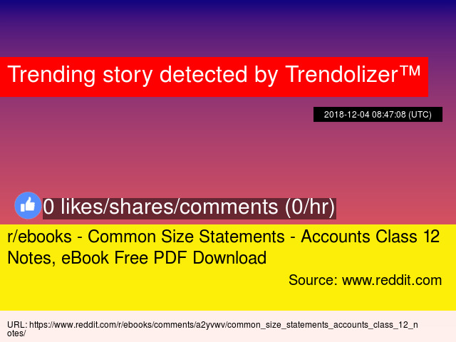 R Ebooks Common Size Statements Accounts Class 12 Notes Ebook