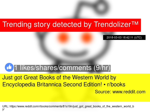 Just got Great Books of the Western World by Encyclopedia